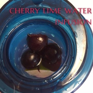 cherry lime water infusion